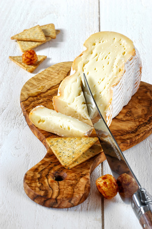 cow's milk cheese: French soft cows milk cheese Stock Photo