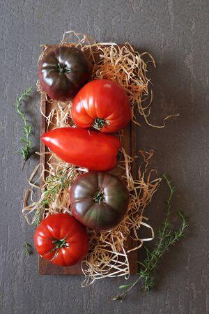 bullish: Ripe Bullish heart tomatoes