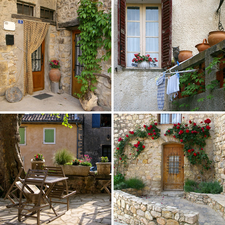 fascination: Charm of Provence, most beautiful villages of Provence in Detail: Collage
