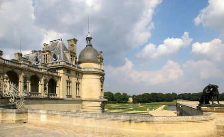 chantilly: Famous castles of France: chateau de Chantilly in Chantilly, Oise Conde Museum and Garden design