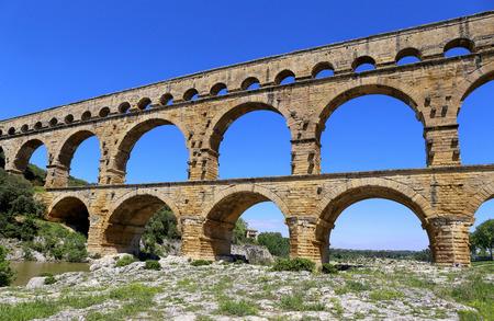 du: Southern France, Roman aqueduct Pont du Gard