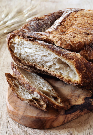 bred: Traditional French country bread and bred grains Stock Photo