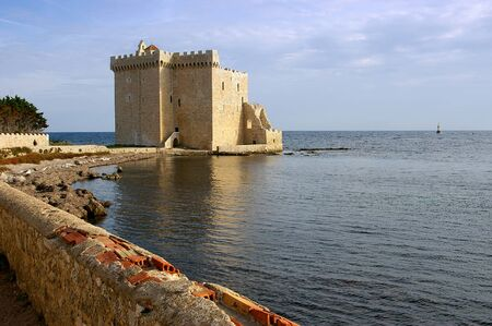 cote d'azur: Cote dAzur, the Lerins Islands : fortified monastery of abbey Saint-Honorat Stock Photo