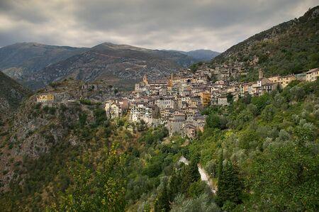 charm: Cote dAzur, Pre-Alpine landscape: Saorge village, charm of medieval city