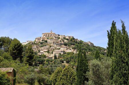 gordes: France, landscapes of Provence: Gordes village Stock Photo