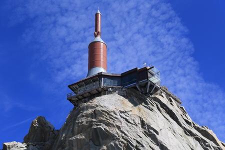 massif: Step into the void. Aiguille de Midi, massif Mont Blanc
