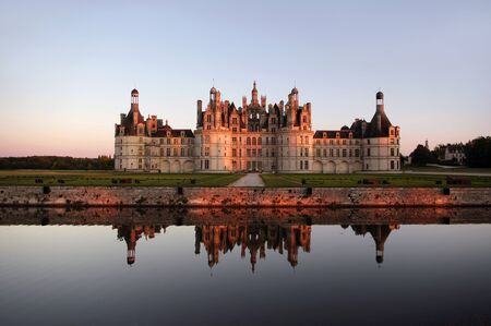 french renaissance: Castles of the Loire Valley: Chambord - architectural masterpiece of the French Renaissance Stock Photo