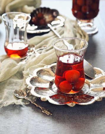 ardent: Cherry Eau de vie: french fruit brandy. Toned image