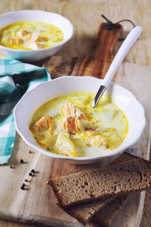 norwegian: Norwegian fish soup and bread