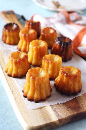 Homemade canneles bordelais, French dessert