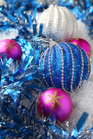 new year decoration multicolored large christmas balls stock photo 62429260 - Large Christmas Balls