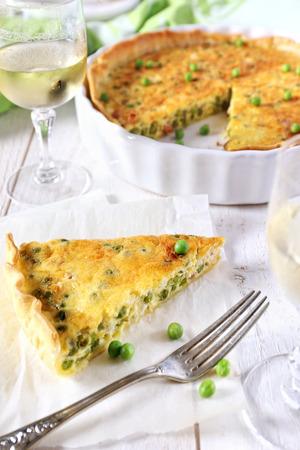 morsel: Green peas and lards quiche