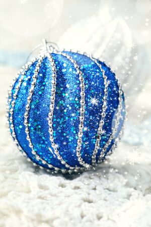 new year composition two large christmas balls toned image stock photo 66339480 - Large Christmas Balls