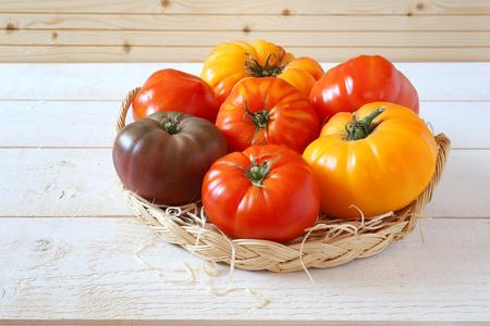 bullish: Assortment of Ripe Bullish heart tomatoes