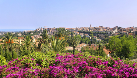 Southern France, landscape. French Riviera, view of the  Vence village from the Matisse Chapel