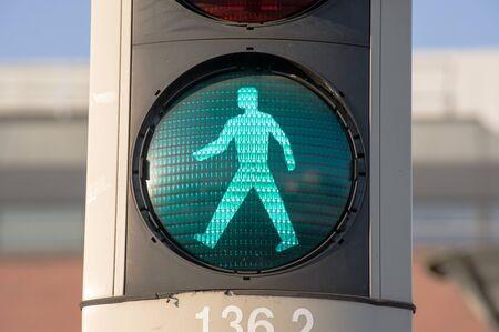 Green pedestrian light