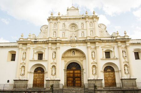 Entrance of the church of Antigua, Guatemala