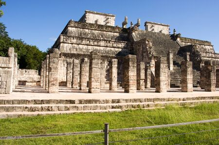 Temple of the Warriors, an maya ruin in Chichen Itza, Mexico