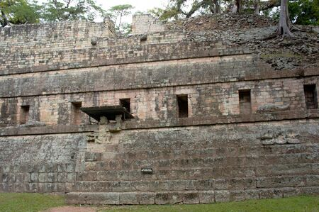 Ruin of ancient pyramid in Copan, Honduras