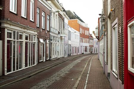 Street where prostitution takes place in Groningen Netherlands. The street is called Zuiderdiep Banque d'images