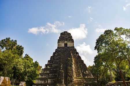 Temple I of Tikel in the Jungle, Guatemala Banque d'images