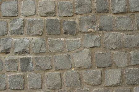 Gray cobble stone pattern background