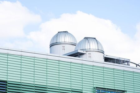 Dome of the astronomical observatory on the roof of Radboud university Nijmegen, Netherlands