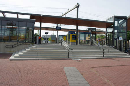 Elst, Netherlands - May 7, 2020: Entrance of station Elst