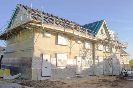 House under construction in Arnhem, Netherlands
