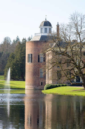 An ancient castle called Rosendael with a tower n Rozendaal in the Netherlands