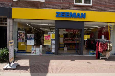 Oss, Netherlands - July 9, 2021: Entrance of a Zeeman store. Zeeman is a Dutch chain store