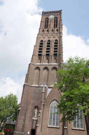Tower of the Grote Kerk church in Oss in the Netherlands Redactioneel