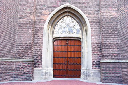 Entrance of the Grote Kerk church in Oss in the Netherlands Stockfoto