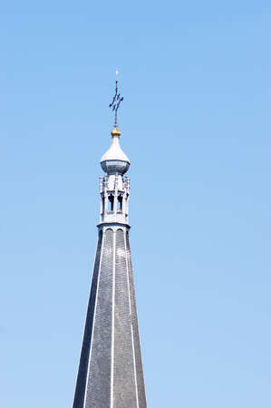 Closeup of the spire of the Martinikerk in Doesburg in the Netherlands Stockfoto