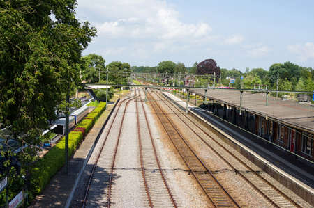 Many railway tracks at station Dieren in the Netherlands