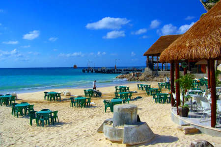 This is the place where we had lunch before going for diving. Cancun, Mexico