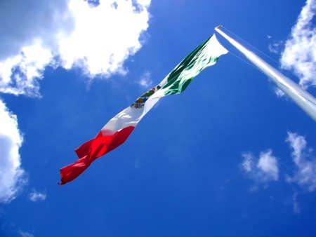cozumel: Un gigante bandera de M�xico nos reunimos en la isla de Cozumel, Yucat�n. Dios, bendiga Mexico!