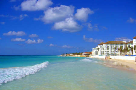 Beach in the Isla Mujeres island. Shot in Cancun, Mexico photo