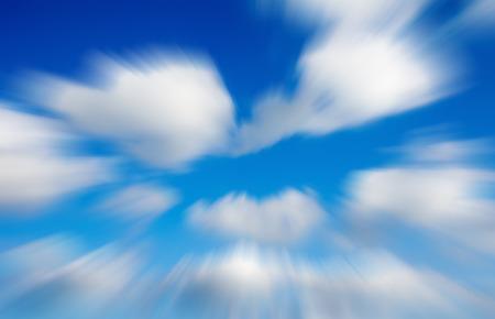 Blurred misty infinite sky