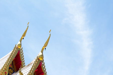 thailand temple: Thailand Temple roof ornaments