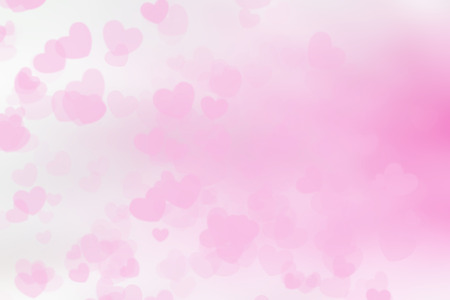 pastel shades: Abstract blurred background Valentines cards love. Pink Heart and white wallpaper. Sweet tones and pastel shades.