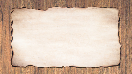 watercolor paper: Old paper on a cream color background brown planks. Abstract style.
