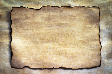 watercolor paper: Old paper burn marks on white paper background. Abstract style.