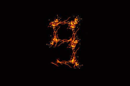 interested: flames from Digits on a black background, not interested the focus.abstract style.Concept Design Ideas.two  Image ID:435989533 Stock Photo