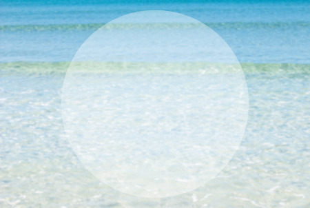 whitespace: background blurred ocean beach abstract style.Light center of the image concept, ideas differ. Circular space for Enter your Message