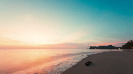 The beautiful sea in the sunset time. Stock Photo - 125712514