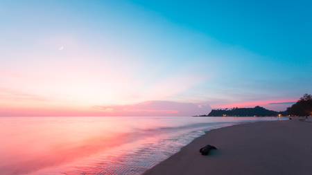 The beautiful sea in the sunset time. Stock Photo