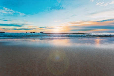 Beautiful ocean landscape at sunset time.Welcome High Season Stock Photo - 125712516