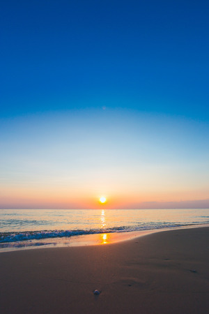 Beautiful ocean landscape at sunset time. Vertical Stock Photo - 125712519