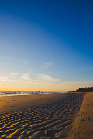 Ocean landscape at sunset time. Natural outdoor background